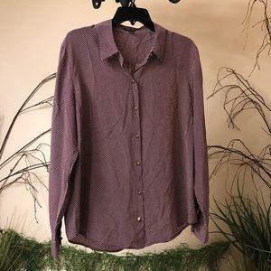 Ann Taylor silk polka dotted blouse